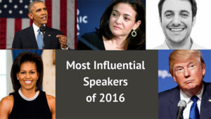 I Bet You Won't Guess Who the Top 5 Most Influential Public Speakers of 2016 Are!