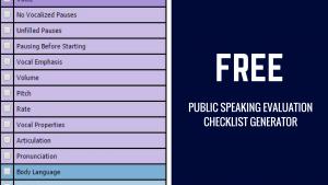 FREE: Public Speaking Evaluation Checklist Generator