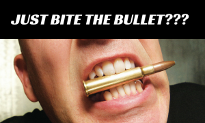 Stop telling people to bite the bullet and get on stage!